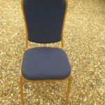 Blue Padded Banquet Chair