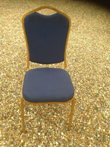 Blue Padded Banquet Chair